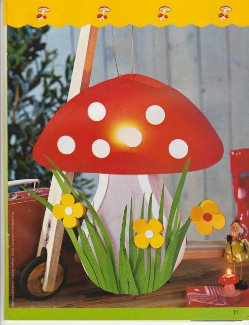 Idee voor het maken van een lampion - paddestoel
