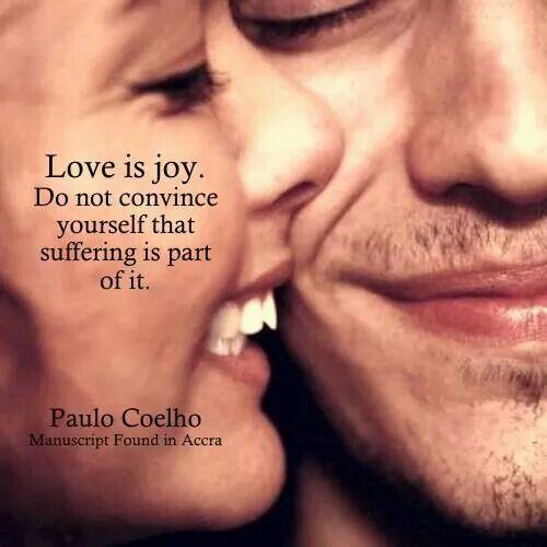 Love is joy...