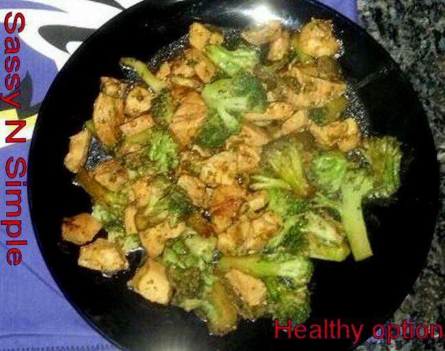 Broccoli Chicken Dijon  (Medifast Healthy meal)