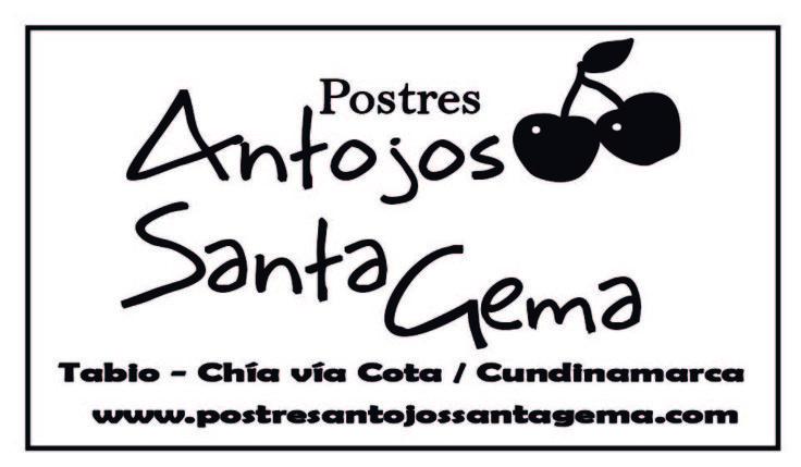 Contraste logo fondo blanco letra negra para sellos o screen; POSTRES ANTOJOS SANTA GEMA. Categoría: P.O.P. /Merchandising
