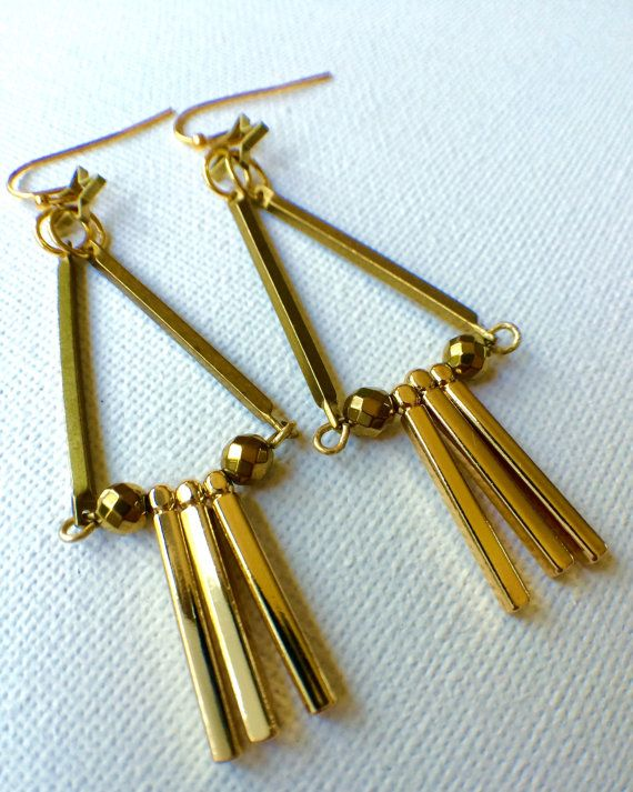 Geometric triangle Earrings Industrial Modern by PERCIVALandHUDSON