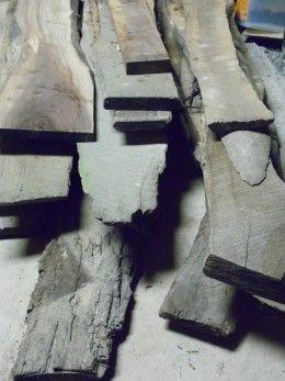 Black Walnut rough cut sawmill planks