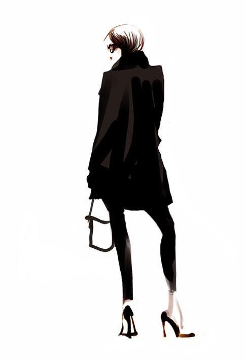 Fashion illustration - chic fashion sketch // Sophie Griotto