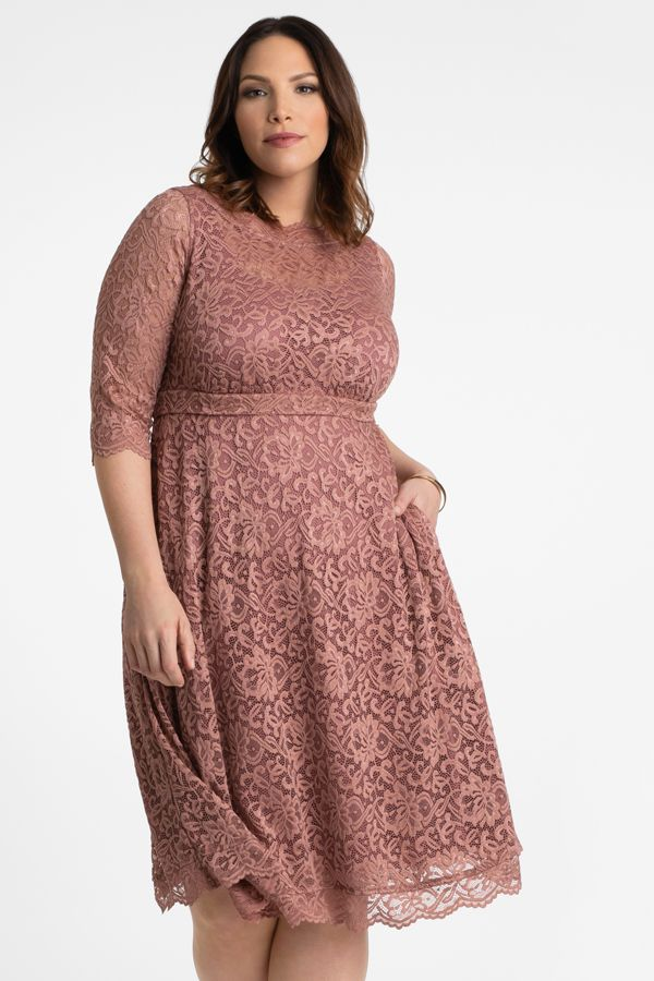 You Ll Make Them Blush In Our Plus Size Lacey Cocktail Dress Now Available In A Lovely Mau Plus Size Cocktail Dresses Plus Size Lace Dress Cocktail Dress Lace