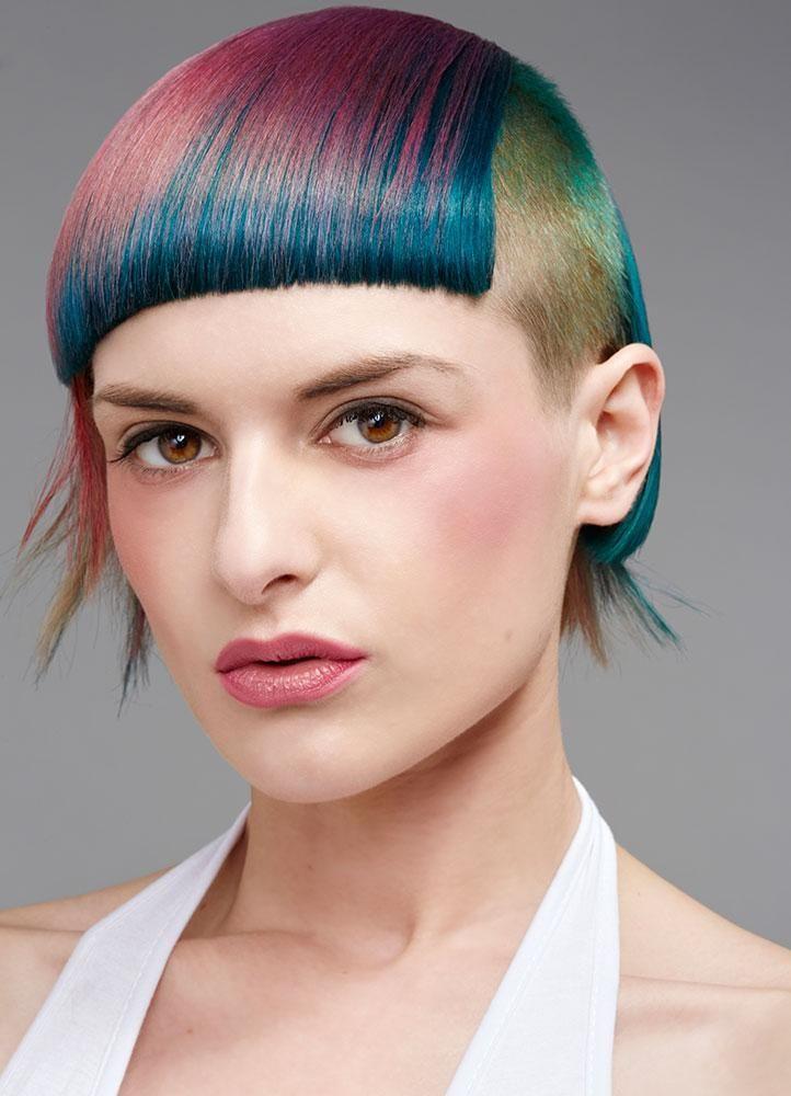 3 Vivid Hair Color Ideas on Super Short Hair   Modern Salon #haircolor #shorthair #vivids