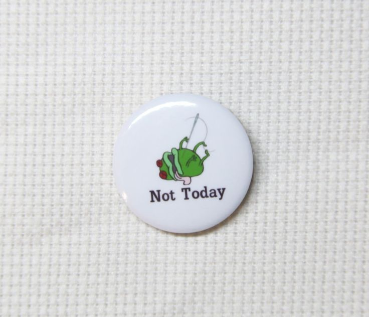 No Frogs Allowed Handmade Needle Minder
