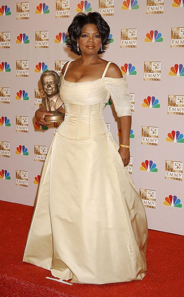 Oprah red carpet dresses