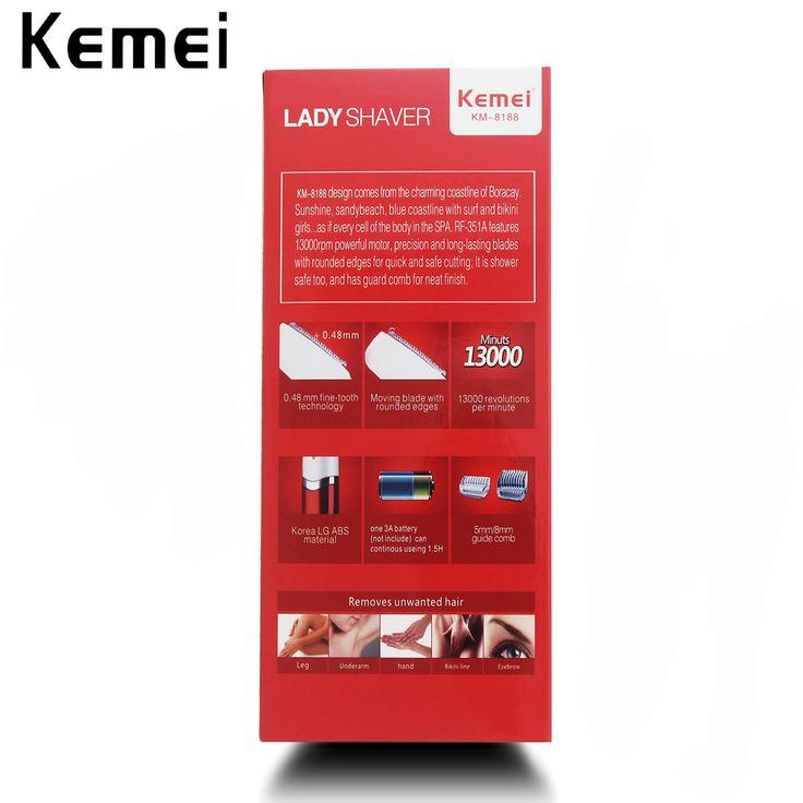 Kemei Леди Электрический Mini Брови Женщины Триммер Тела Лица Для Удаления Волос Эпиляторы Бикини Подмышек Моющиеся
