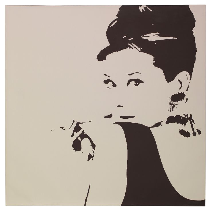 Bring class to a room with the PJÄTTERYD picture of Audrey Hepburn. Motif created by Phil Handsley