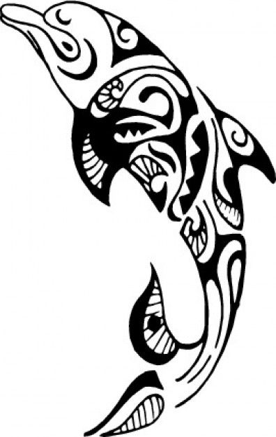 Tribal dolphin design...this is more along the lines of what i would get.