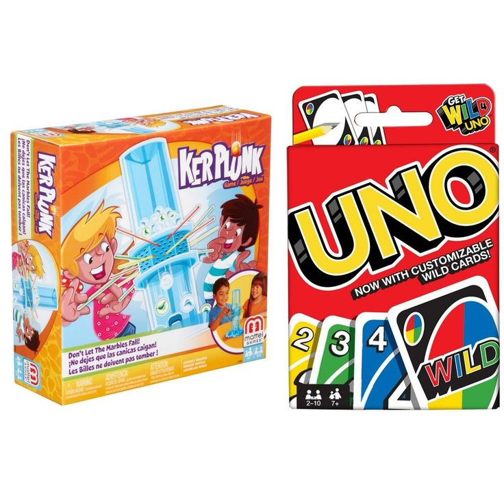 Ker Plunk Game Dont Let the Marbles Fall and Uno Card Game Bundle Best Gift NEW #KerPlunkandUnoCard
