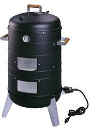 Meco 5030 Electric Grill and Combination Water Smoker: smoke is easy with this dual function low price appliance.