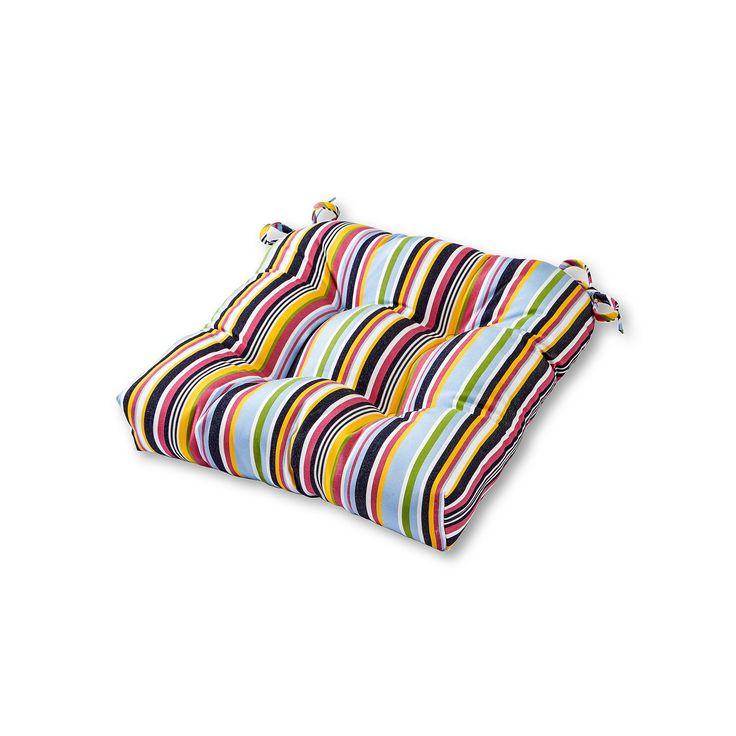 Greendale Home Fashions Square Sunbrella Outdoor Chair Pad, Blue