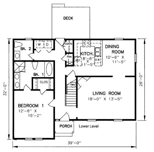 План Загородного Дома Кейп-Код Уровня 45233 Один