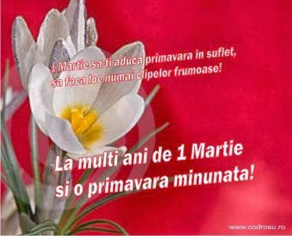 veselie in bucatarie: La multi ani pentru 1 Martie