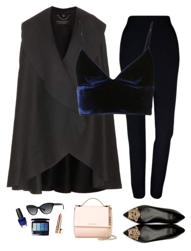 """#12"" by heelsandgo on Polyvore featuring Versace, Plakinger, Burberry, RALPH, T By Alexander Wang, Givenchy, OPI and Christian Dior"