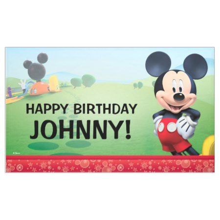 Mickey Mouse Birthday Banner - click to get yours right now!