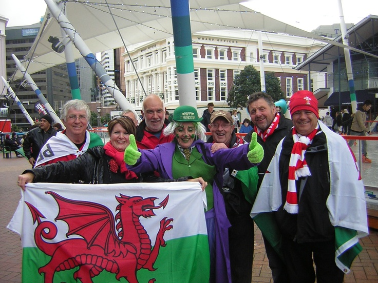 Me with irish and welsh supporters at the World cup rugby 2011