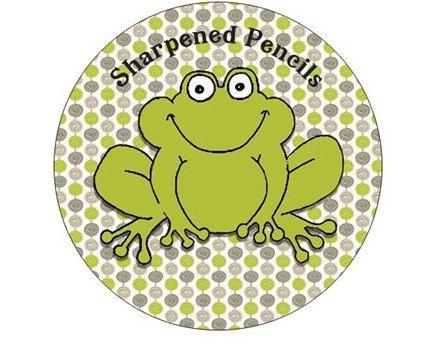 Trendy Frog Sharpened Pencil Bin Label