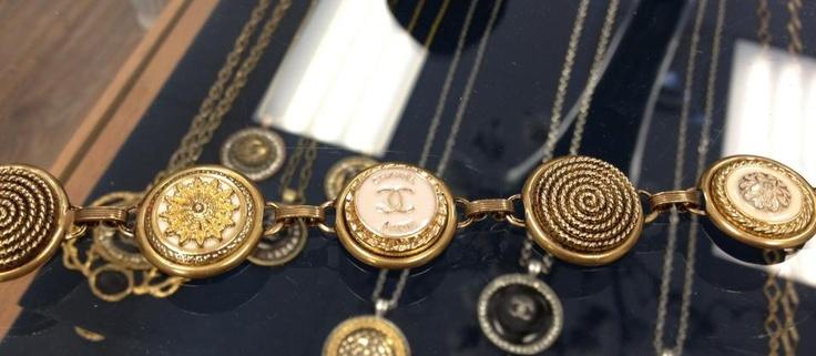 5 Chanel Button Bracelet