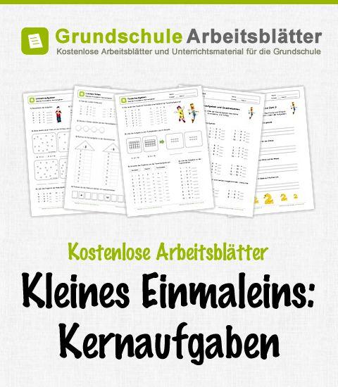 Kostenlose Arbeitsblätter und Unterrichtsmaterial zum Thema Kleines Einmaleins: Kernaufgaben im Mathe-Unterricht in der Grundschule.
