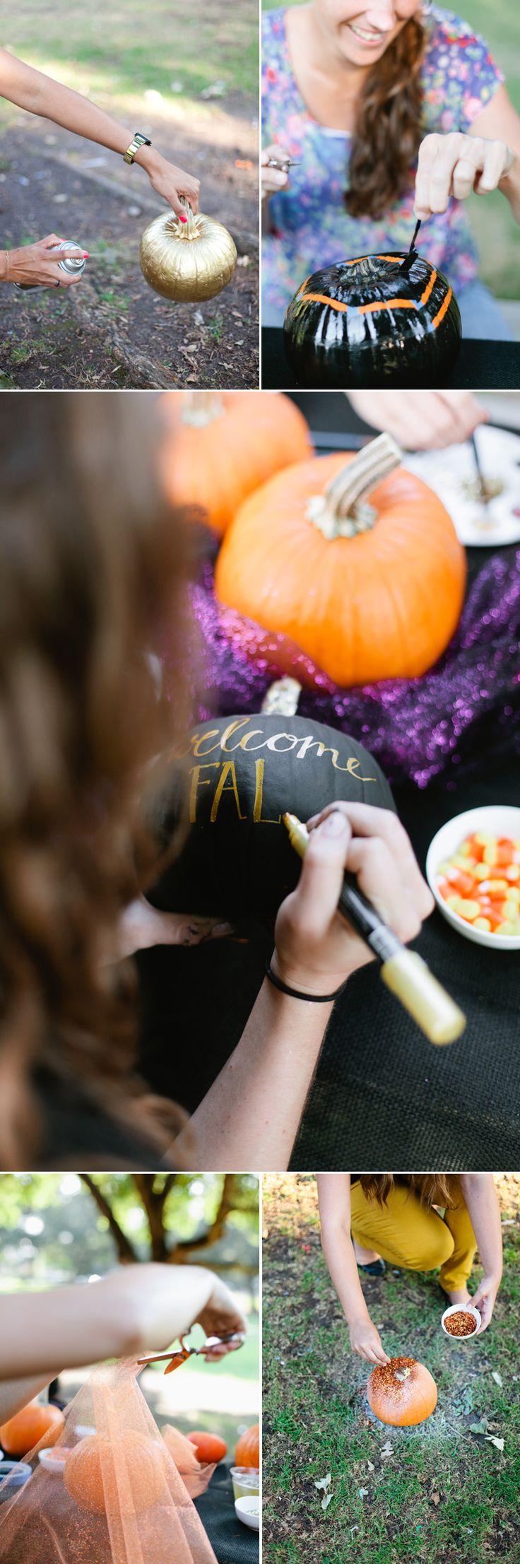 5 No-Carve Pumpkin Decorating Ideas @Carol Norris