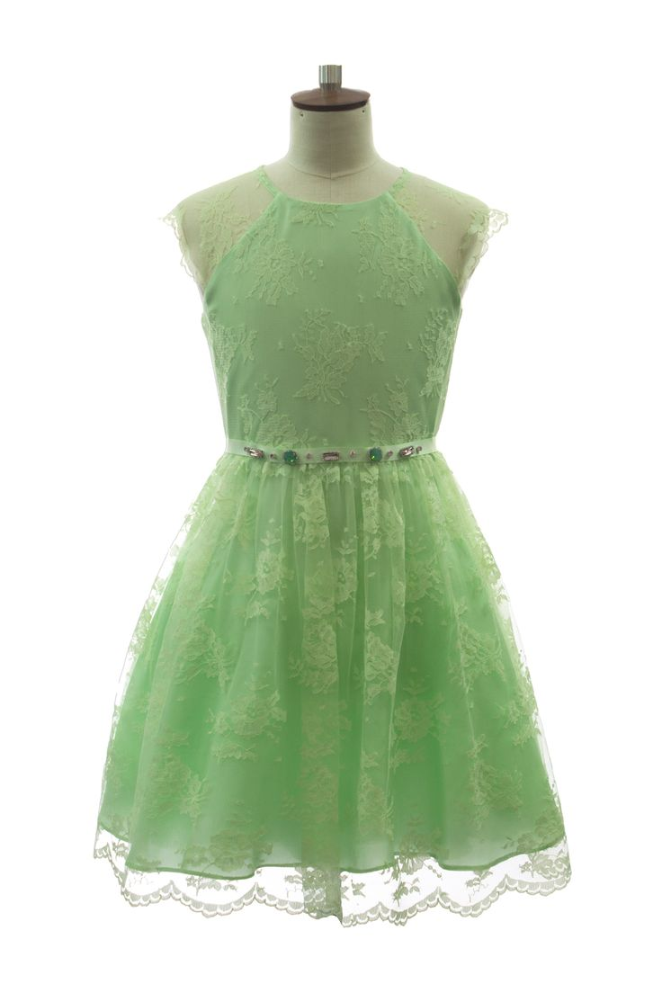 LIME GREEN SPECIAL OCCASION DRESS