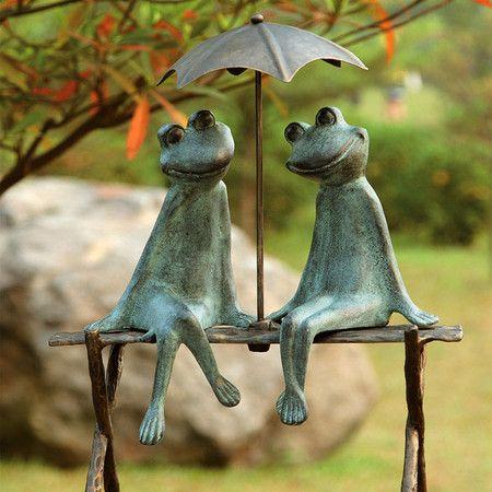 Enchante Frog Garden Sculpture