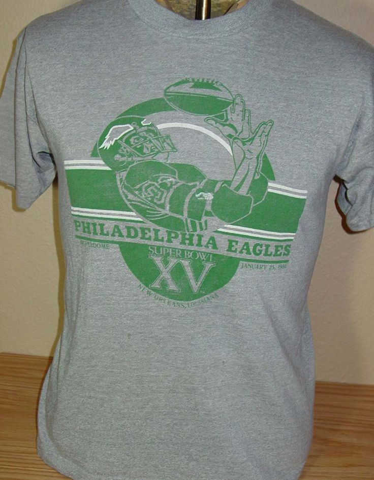 Vintage 1981 Philadelphia Eagles Super Bowl t shirt Large by vintagerhino247 on Etsy