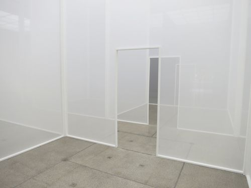 Robert Irwin (1928) Double Blind _Robert Irwin is an American installation artist. He lives and works in San Diego, California.
