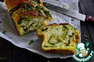 Хлеб чесночный с зеленью