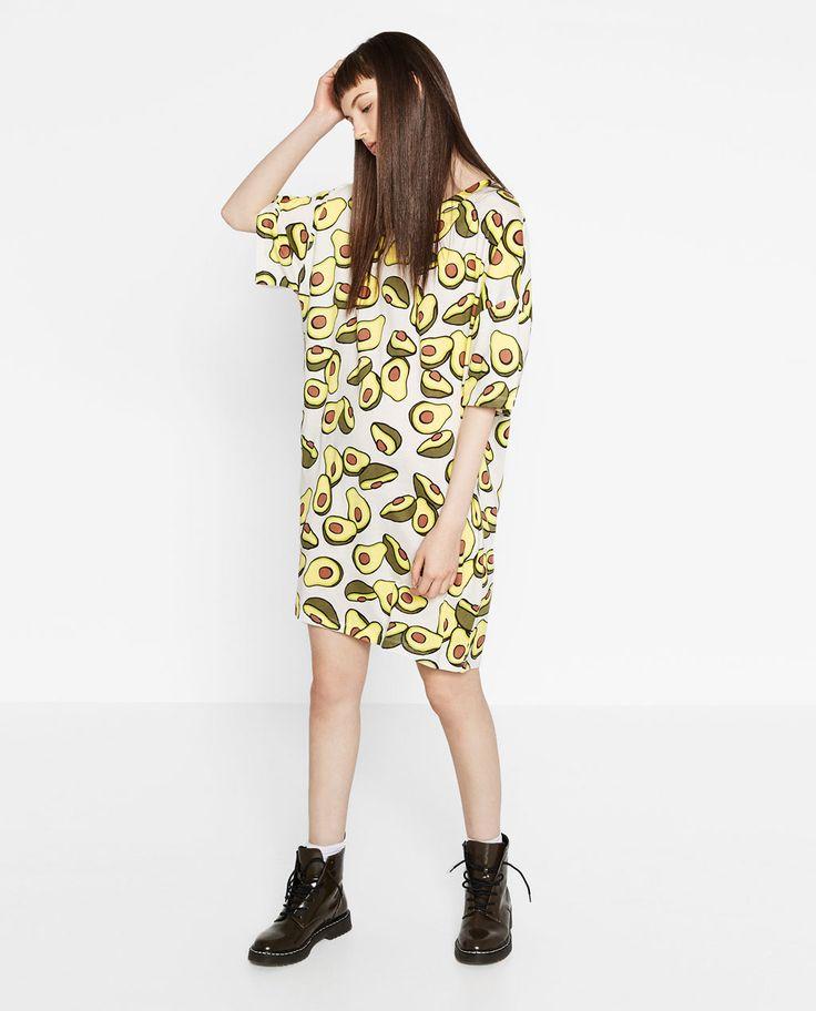 PRINTED T-SHIRT DRESS-DRESSES-TRF   ZARA United States