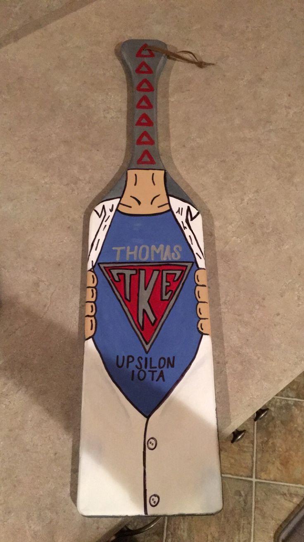 TKE Superman paddle Tau Kappa Epsilon Fraternity