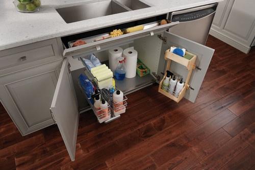 storage under the sink Kitchen