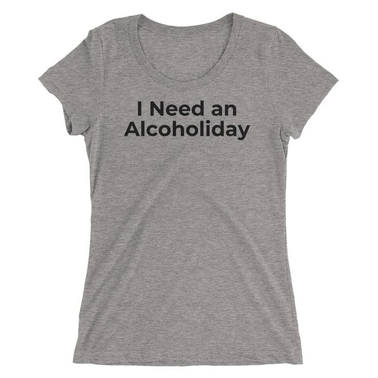Alcoholiday - Ladies' short sleeve t-shirt - BLK