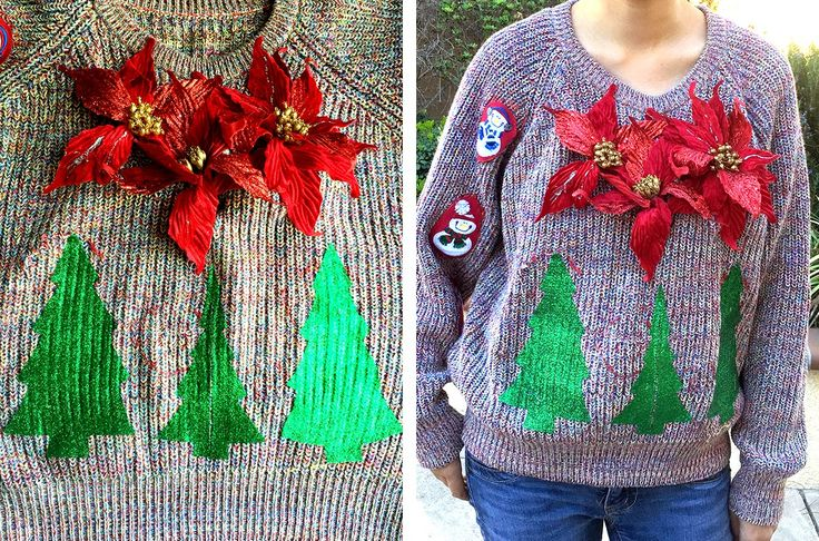 The Cheese Thief: Ugly Christmas Sweater DIY