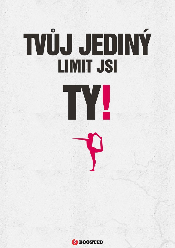 Motivační plakát Limit (Česky)