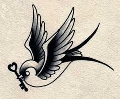 Love the idea of getting only one swallow tattooed. It's said that they only have one partner their whole life. So I just have to find my swallow. And the key could resemble the lock I'm trying to find...
