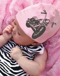 Pink Axle Pink Motorcycle-pink, rocker, motorcycle, newborn, baby, gift, shower, girl