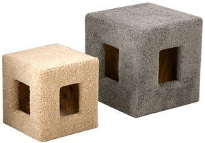 Pacific Pets Cat Cube : Color NATURAL : Size 17 INCH SQUARE