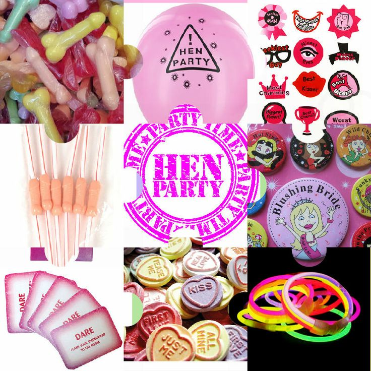 Just Some Of The Goos You Ll Find In Your Hen Party Gift Bag