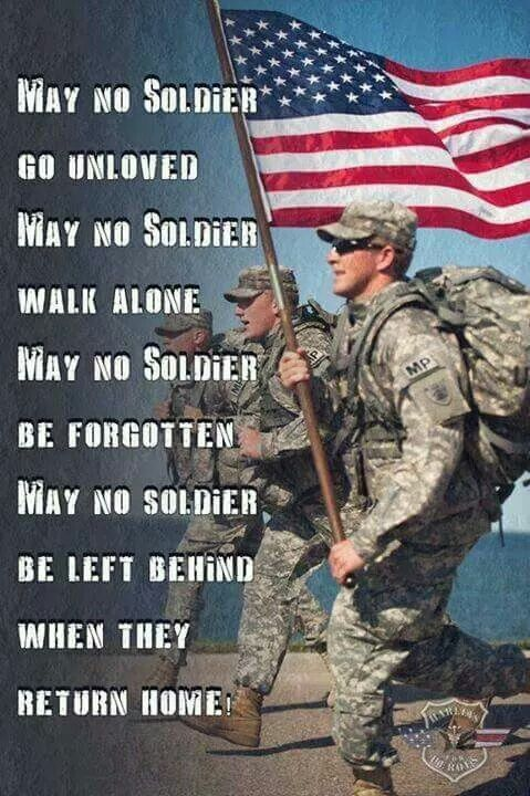 AMERICANS, show our HEROES that we appreciate them by voting for TRUMP, WHO WILL SUPPORT THEM, WHILE THEIR SERVING AND WHEN THEY GET H