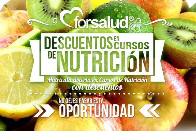Campaña de descuentos en cursos de Nutrición #forsalud