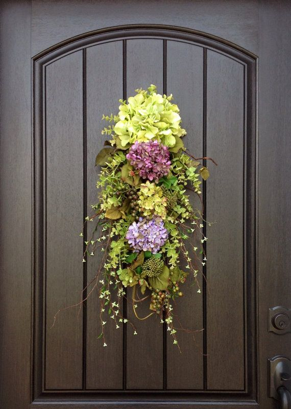 "Spring Wreath Summer Wreath Teardrop Twig Door Swag Vertical Decor...""Now and Forever"" on Etsy, $75.00"