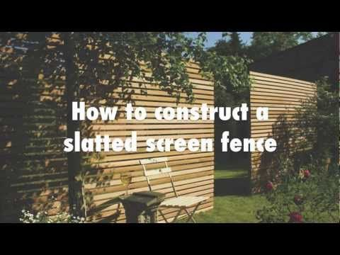 Western Red Cedar Slatted Screen Kits with Free Nails