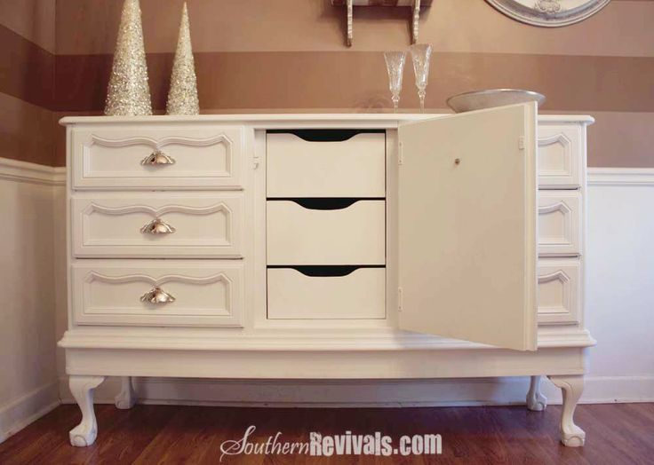 Southern Revivals: Vintage 1970u0027s Dresser Becomes Modern Buffet A Dresser  Revival By Adding Legs To