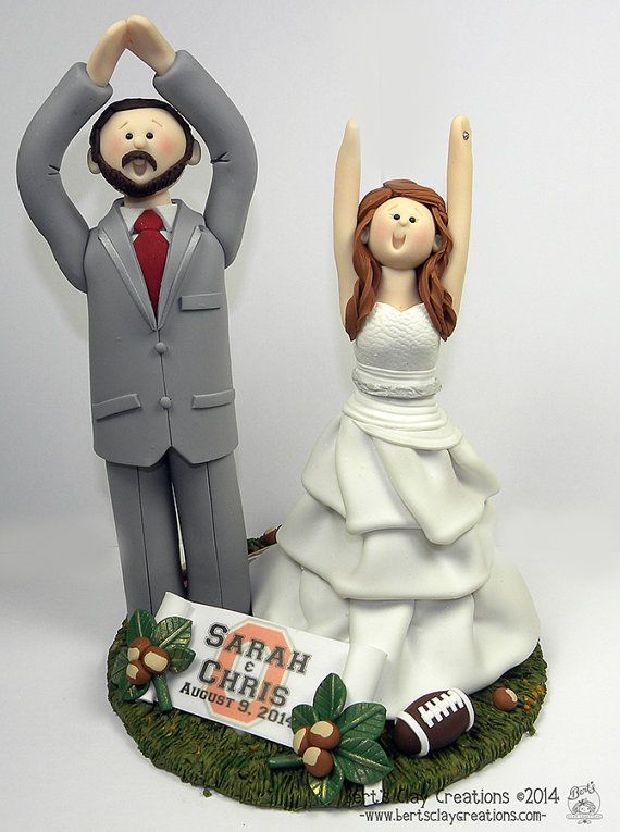 CUSTOM OHIO STATE Wedding Cake Topper  by BertsClayCreations, $50.00