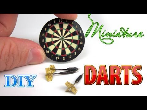 DIY Miniature Dart Board with Darts | DollHouse - YouTube