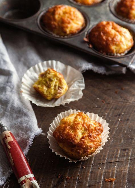 Minis quiches jambon & fromage à la manière d'un muffin