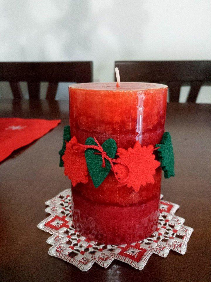 una candela profumata, qualche avanzo di feltro e un po' di voglia di creare ;)